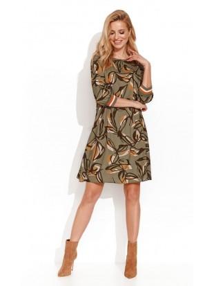 Sukienka w liście AYATI 051 ZAPS