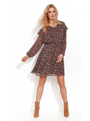 Sukienka w kwiaty LIGIA 004 ZAPS