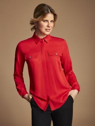 Czerwona bluzka koszulowa 10-217/21 SALKO