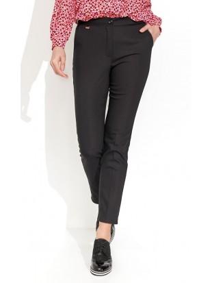 Klasyczne czarne spodnie  - LOTTY 004 ZAPS