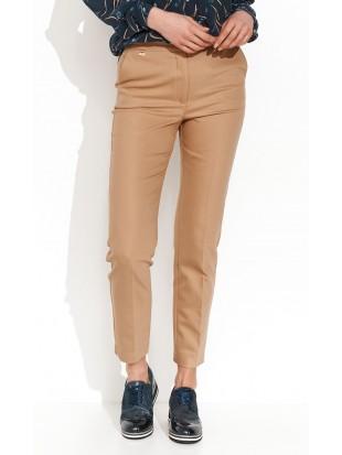 Spodnie klasyczne camelowe  - LOTTY 043 ZAPS
