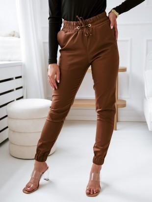 Spodnie dzianinowe z wiązaniem - 3304