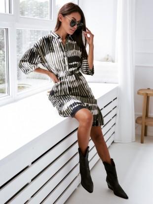 Sukienka z kołnierzykiem - 3259