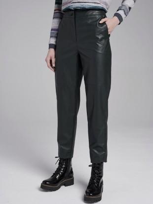Czarne spodnie z eko skóry - 703-5-02