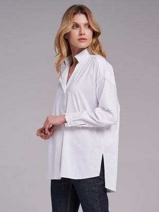 Długa biała koszula damska  -  FI30-5-09