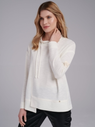 Kremowa bluza dzianinowa  -  FI17-5-08