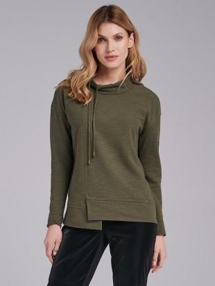 Bluza dzianinowa w kolorze khaki  -  FI17-5-36