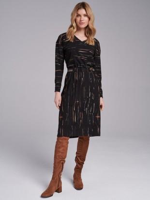 Sukienka midi we wzory -...