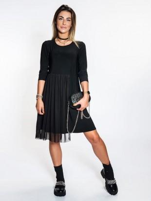 Sukienka czarna z dzianiny