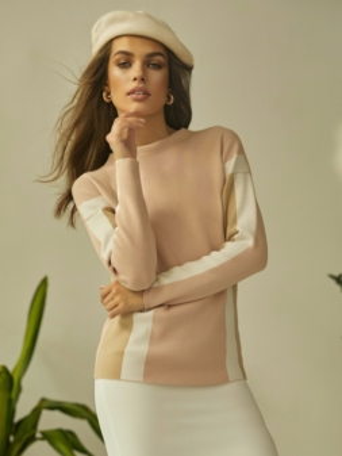 Sweter damski CARPINO różowy