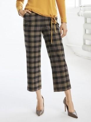 Spodnie 3/4 damskie culotte - 23-218 SALKO