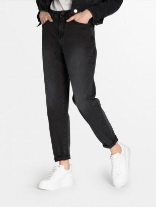 Czarne spodnie MOM JEANS LINDA 09 225 ROCKS JEANS