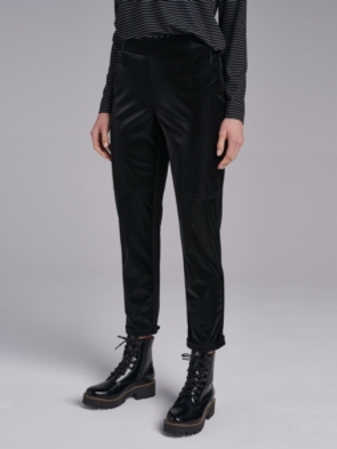Casualowe czarne spodnie FI708-5-02