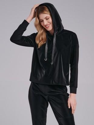 Casualowa czarna bluza FI54-5-02