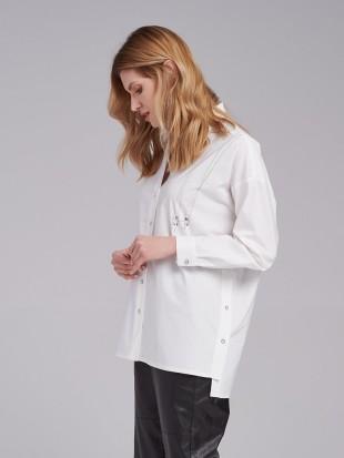 Biała koszula damska FI25-5-08