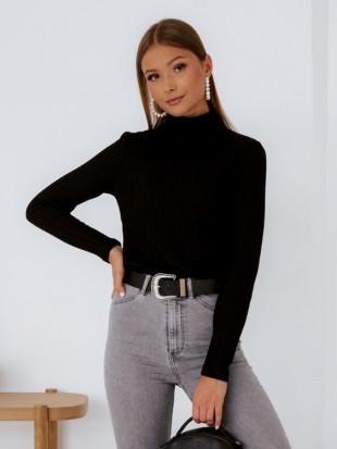 Sweter golf czarny