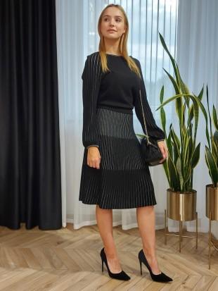 Czarna sukienka dzianinowa FORTUNA