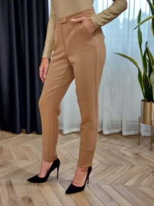 Spodnie damskie klasyczne camel