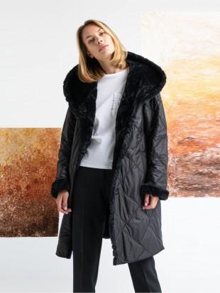Płaszcz damski z kapturem IRINA - GETEX