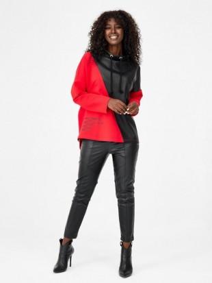 Czerwono - czarna bluza dresowa